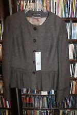 Marc Aurel Wool Brown textured Blazer Jacket sz 6 38 NEW $355 (b165)