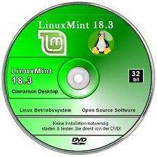 Linux Mint 18.3 Cinnamon Betriebssystem  DVD 32 bit System   ✔ 2018