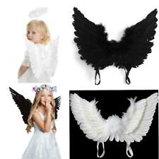 Feather Angel Wings Costume Fancy Dress Christmas Kids Cosplay Halloween KS3