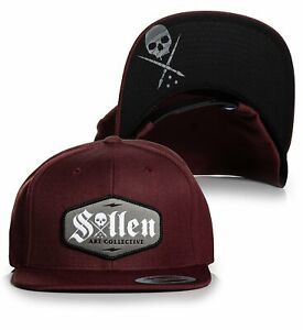 Sullen Art Collective Logo Current Tattoos Skull Urban Snapback Hat SCA3737