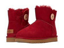 Women's Shoes UGG MINI BAILEY BUTTON II Suede & Sheepskin Boots 1016422 KISS