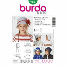 Burda Easy SEWING PATTERN 9496 Baby/Toddler/Childs Cap,Bonnet,Hats