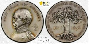 Germany silver medal 1898 Bismarck Bennert-229 Silver PCGS SP64 [m597]