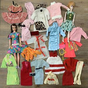Vintage Barbie CLONE Maddie MOD Hong Kong Uneeda Big Lot Dolls Clothing