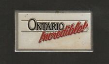 Ontario Incredible Metal Pin Pinback -Very Good