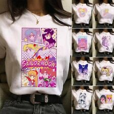 SAILOR MOON Women Girls Cartoon T-Shirt Harajuku Tee Short Sleeve Shirt 2020