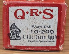 Q.R.S. Word Roll (10-209) Little Green Apples Played by George Holmes *READ*