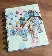 Owl & Flower Cover Set made for use with Happy Planner