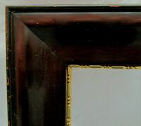 """Antique Fits 10.4"""" x 11.8"""" Mahogany Wooden Picture Frame with Beaded Gold Gilt"""