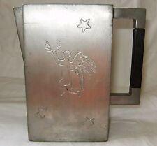 Rare Antique E Ernst Dragsted Pewter Pitcher w/ Engraved Angel & Stars Vintage