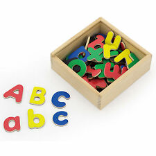 Never Been Wooden Magnetic Letters 52 Piece Childrens Kids Alphabet