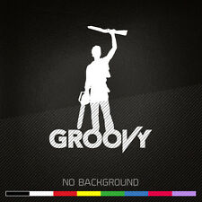 ASH vs Evil Dead Decal Sticker | GROOVY | Boomstick | Army of Darkness