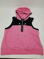 KH3 Disney Kingdom Hearts III Kairi Pink Sleeveless Cosplay Hoodie Anime sz. XL