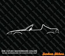 2X Car silhouette stickers - for Honda Del-Sol crx (1992-1998) W/ open top