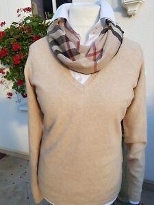 MALO+klassischer V-Pullover+100% Cashmere+beige+NP 449 €+NEU mit Etikett