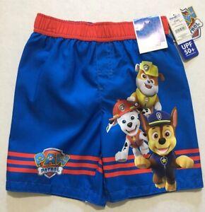 Nickelodeon Paw Patrol Boys swim trunks size 5T blue & red UPF 50+ new