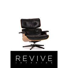 Vitra Eames Lounge Chair Cuir Fauteuil Noir Bois