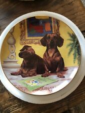 Dachshund Plates by Christopher Nick SET OF 11 PLATES!