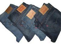 Mens LEVIS 527 Slim Bootcut Blue Denim Jeans W30 W31 W32 W33 W34 W36 W38