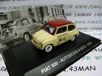 PIT53D 1/43 IXO Altaya Véhicules d'époque ITALIE : FIAT 600 auto-école 1955