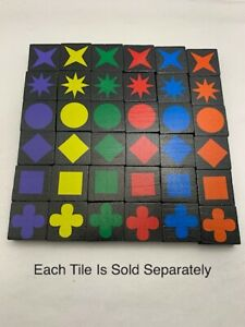 1 QWIRKLE replacement tiles - each sold separately