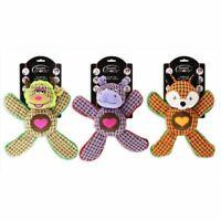Dog Toy Plush Squeak Crinkle Animal Play Pet Fox Smart Choice Accessories