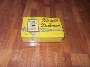 Antica scatola latta biscotti al plasmon