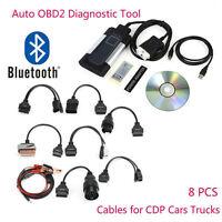Bluetooth TCS CDP+ Plus Autocom Car&Truck OBD2 Diagnostic Tool+8PCS Car Cables