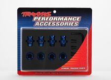 Traxxas 5853X Slash Stampede Rustler 2wd Wheel hubs spline blue anodized 17mm