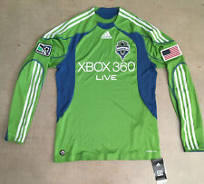 Seattle Sounders Adidas MLS Soccer Long Sleeve Jersey 2008 Inaugural Medium