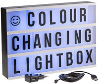 Gadgy ® Cinema LightBox Colour Changing with Adapter A4 Vintage Light sign board