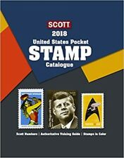 2018 Scott US United State Pocket Stamp Catalog Catalogue Price Guide Book Value