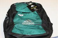 New Adidas Stadium Team Soccer  BackPack Power Green / Black Ball Bag $60 Retail