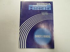 Honda HS35 Snow Thrower Owners Manual MINOR WEAR FADING FACTORY OEM DEAL