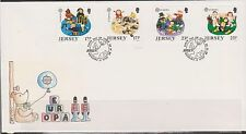 GB - JERSEY 1989 Europa 89'/Children's Toys & Games SG 496-499 FDC