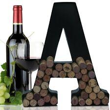 Metal Letter Wine Cork Keepsake Saver & Holder Monogram -Easy Wall Mount Kit A-Z
