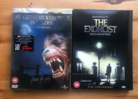 The Exorcist. American Werewolf In London DVDs.