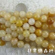 """12mm Round Yellow Jade Beads Semi Precious Gemstone Beads for Jewelry Making 15"""""""