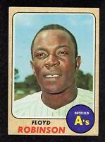 1968 Topps #404 Floyd Robinson Oakland Athletics Vintage Baseball Card EX+