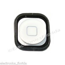 White Home Button with Rubber Gasket Replacement Part for iPod Touch 5th b386
