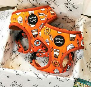 PUMPKIN LATTE Orange Puppy/Dog Harness - Puppy or Dog NEW