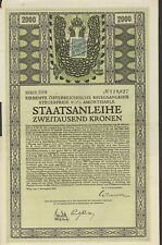 7. Österreichische Kriegsanleihe zu 2.000 Kronen aus 1917