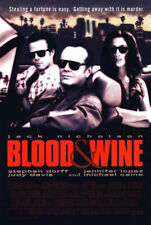 Blood and Wine (1997) original movie poster - single-sided - rolled