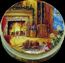 Dollhouse Miniature Cozy Holiday Cookie Tin (Empty) - 1:12 Scale