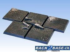 40mm Resin Scenic Bases (5) Square Dirt Warhammer