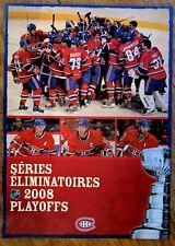 "NHL MONTREAL CANADIENS 2008 SEASON TICKET PLAYOFFS TICKET BOOKLET12"" x 17"""