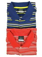 Lot of 2 Nike Golf Dri-Fit Striped Short Sleeve Polo Shirt Mens Size Large L EUC