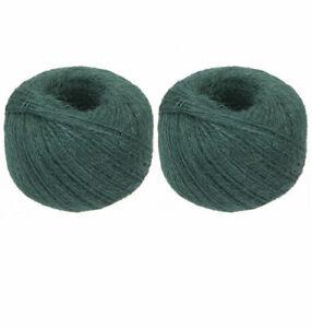 2 x 600m per kg Green Jute Garden String twine Plant support,craft string balls