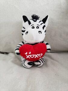 "Dan Dee Zebra with ""XOXO"" Heart Valentine Plush"