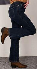 Dark indigo blue denim jeans/ bootcut/cowgirl/western style/size 12/W29/L30/M&S